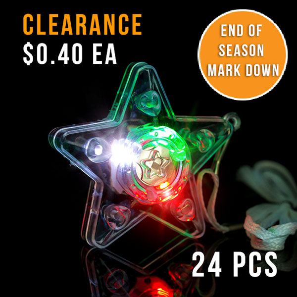 FLASHING NECKLACE-XL STAR RGW-24PC DBOX