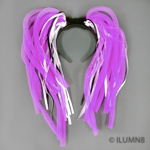 FLASHING HEADBOPPER-NOODLE HAIR PURPLE-1PC