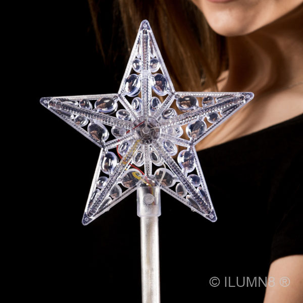 FLASHING WAND - CRYSTAL STAR-1PC