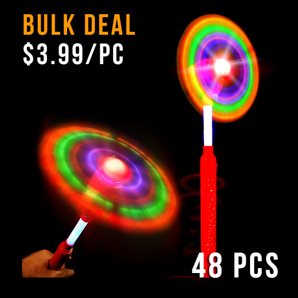 FLASHING WAND-GIANT SPINNING WINDMILL 48PC CTN