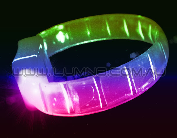 PRE-ORDER FLASHING BRACELET-FLEXI MULTI-120PC CTN