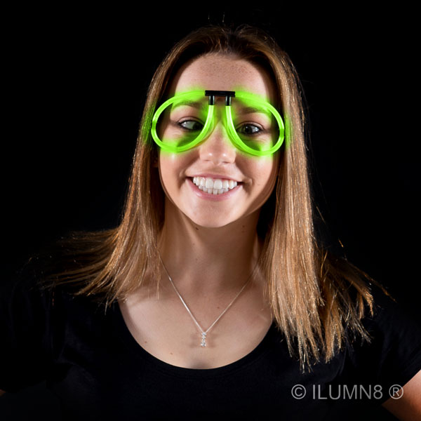 GLOW NOVELTY-EYEGLASSES-GREEN-1PC