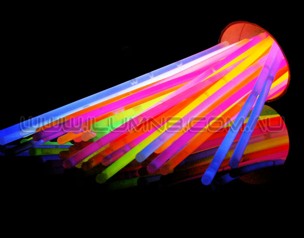 GLOW BRACELETS-8INCH-100PCS/TUBE-MIXED