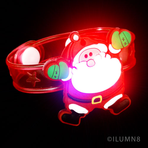 FLASHING BRACELET-JOLLY SANTA 1PC