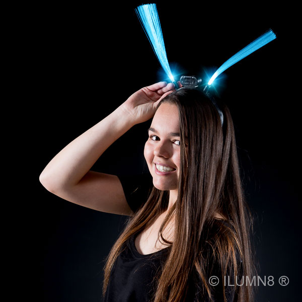 FLASHING HEADWEAR-LONG FIBER OPTIC HEADBAND-60PC CTN