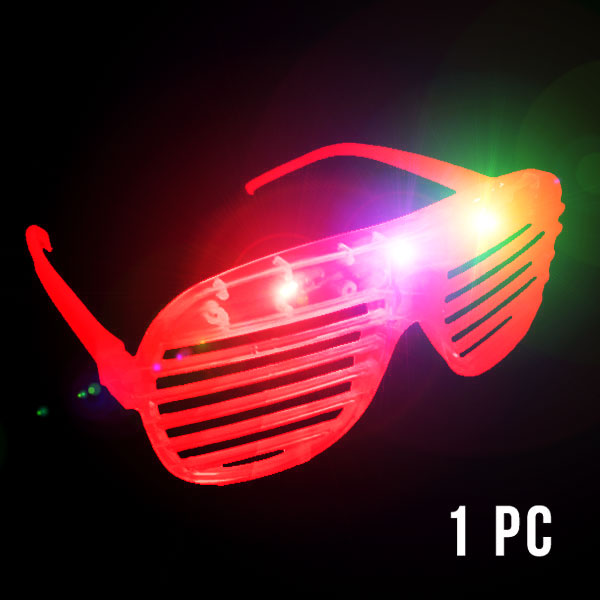 FLASH SUNGLASSES-1PC/PBAG-SHUTTER-RED
