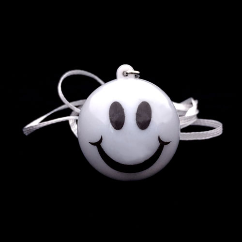 FLASHING NECKLACE-JUMBO SMILEY FACE-24PC DBOX