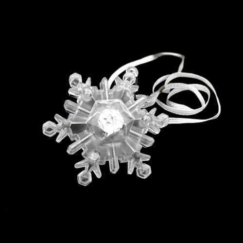 FLASHING NECKLACE-XL SNOWFLAKE-24PC DBOX