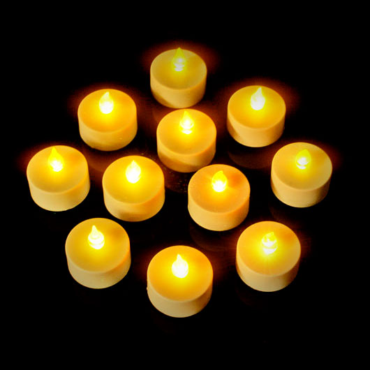 LED CANDLES-TEALIGHT AMBER-12PC TRAY