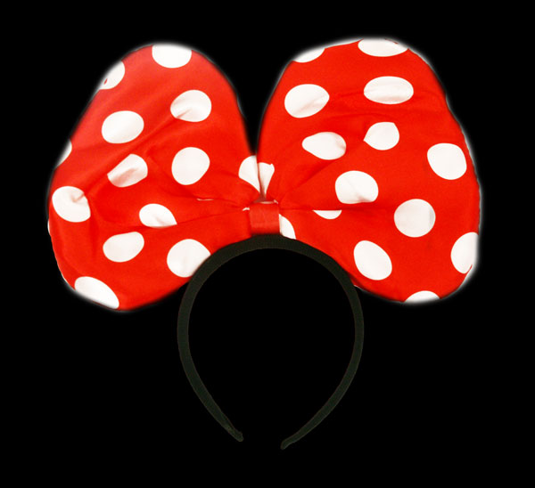 FLASH HEADWEAR-1PC/PBAG-POLKA DOT BOW LRG