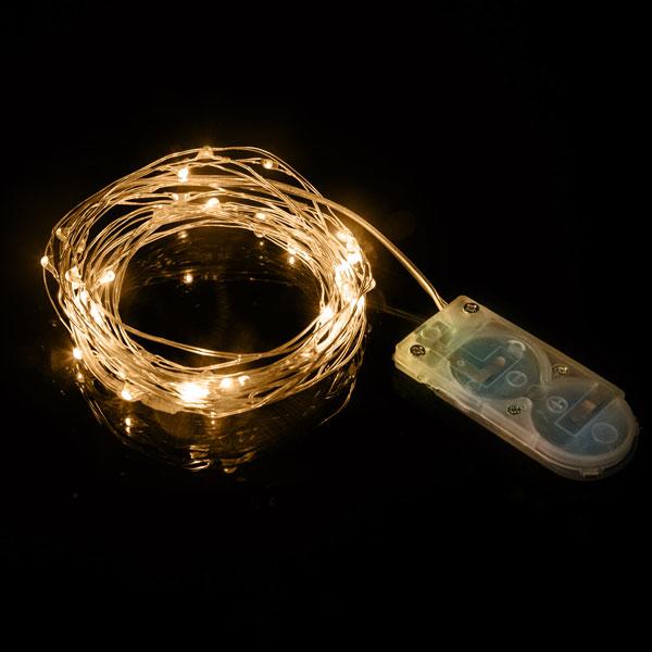 Wire String Lights Warm White 2mtr 1pc