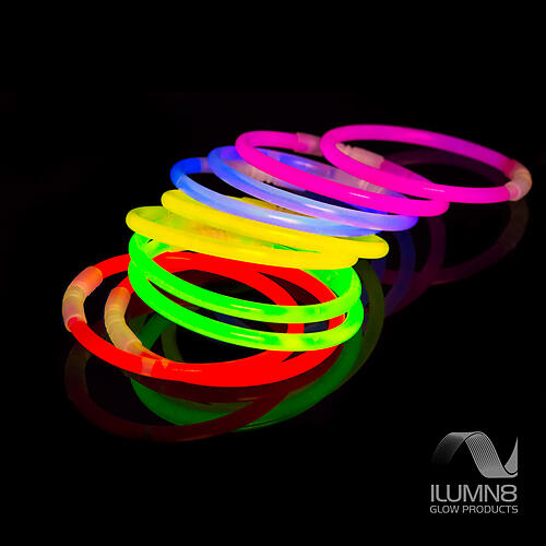 GLOW BRACELETS-8INCH-300PCS/PACK-MIXED + GLOW-SUNGLASSES-CONNECTOR-SETS-15PCS