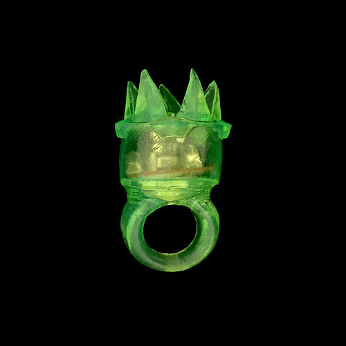 FLASHING RINGS-JELLY SPIKEY-36PC DBOX